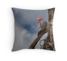 Female Gallah/Rose Breasted Cockatoo Throw Pillow