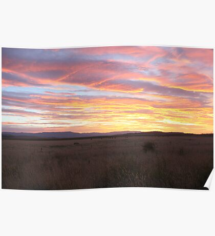 Sunset on the Midland Plains Poster