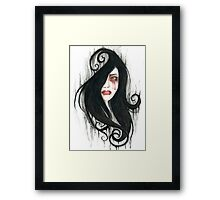 Bleeding tears Framed Print