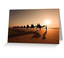 Camel Prints Greeting Card