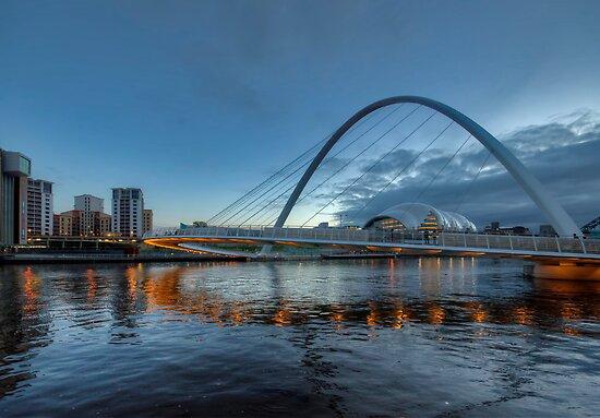 Millennium Bridge Newcastle by Trevor Kersley