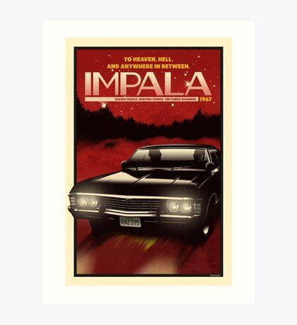 NOW BOARDING: Impala Art Print