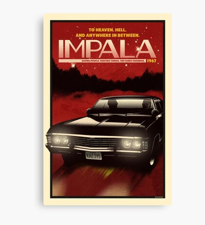 NOW BOARDING: Impala Canvas Print
