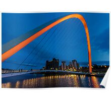 Gateshead at Night Poster