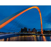 Gateshead at Night Photographic Print