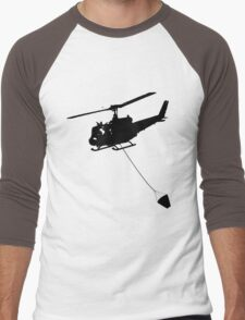 Helicopter Men's Baseball ¾ T-Shirt