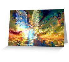 Angel Above the Clouds Greeting Card