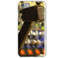 vintage microphone. music production lovers iPhone Case/Skin