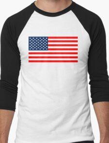 Flag of the United States of America Men's Baseball ¾ T-Shirt