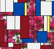 Crape Myrtle Art Rectangles 4 by Christopher Johnson