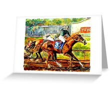 Thoroughbred Racehorse Greeting Card
