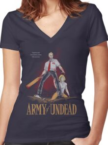 Army of Undead Women's Fitted V-Neck T-Shirt
