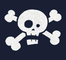 Children's Vintage Skull & Crossbones Tshirt - Hand Illustrated Kids Tee