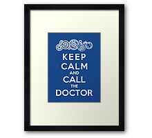 Keep Calm And Call The Doctor (Gallifreyan Version) Framed Print