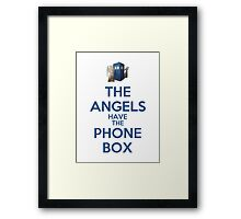 The Angels Have The Phone Box (Color Version) Framed Print