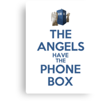 The Angels Have The Phone Box (Color Version) Canvas Print