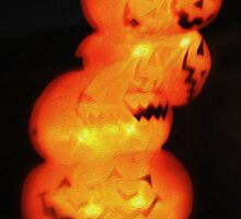 Halloween Pumpkin Stack by Gregory Dyer
