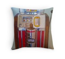 Vintage Slot Machine Throw Pillow