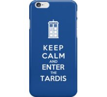 Keep Calm And Enter The Tardis iPhone Case/Skin