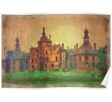 Ooidonk Castle -  aged watercolour Poster