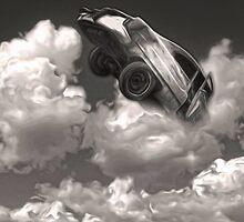 Car Crash in the Clouds by Gregory Dyer