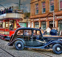 Paisley District Tram and Wolseley 18 Police Car by © Steve H Clark
