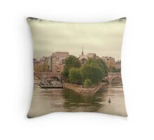 Ile de la Cite Throw Pillow