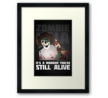 Zombie Leia Framed Print
