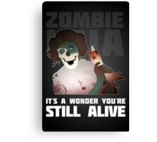 Zombie Leia Canvas Print