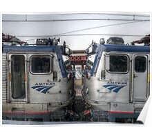 Face to Face on Amtrak Poster