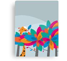 Orange and Trees Canvas Print