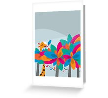 Orange and Trees Greeting Card