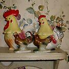 Twin Chickens by WildestArt
