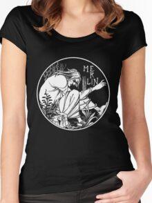 Aubrey Beardsley - Merlin Women's Fitted Scoop T-Shirt