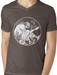 Aubrey Beardsley - Merlin Mens V-Neck T-Shirt