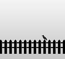 Bird On Fence by V-Art