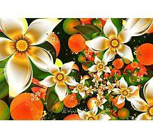 Fractal Orange Blossoms Photographic Print