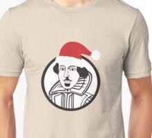 Shakespeare Santa Hat Unisex T-Shirt