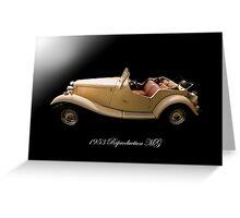 1953 Reproduction MG Greeting Card