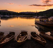 Waterhead Sundown by John Dunbar