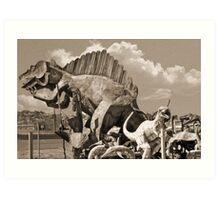 Metal Dinosaurs Art Print