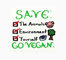 Save the animals, environment, and yourself! Go vegan! Unisex T-Shirt