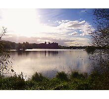 Sunset over Linlithgow Palace and Loch Photographic Print