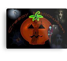 Creepy Halloween Metal Print
