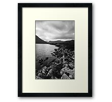 Rocky Shore of the River Conon Framed Print
