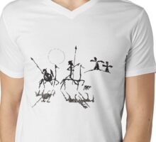 Don Quijote y Sancho Panza Mens V-Neck T-Shirt