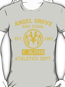 Angel Grove H.S. (White Ranger Edition) T-Shirt