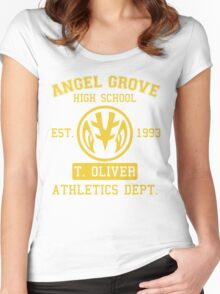 Angel Grove H.S. (White Ranger Edition) Women's Fitted Scoop T-Shirt