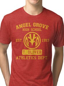 Angel Grove H.S. (White Ranger Edition) Tri-blend T-Shirt
