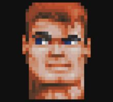Wolfenstein 3D (Head) - Retro DOS game fan shirt HD pixels Baby Tee